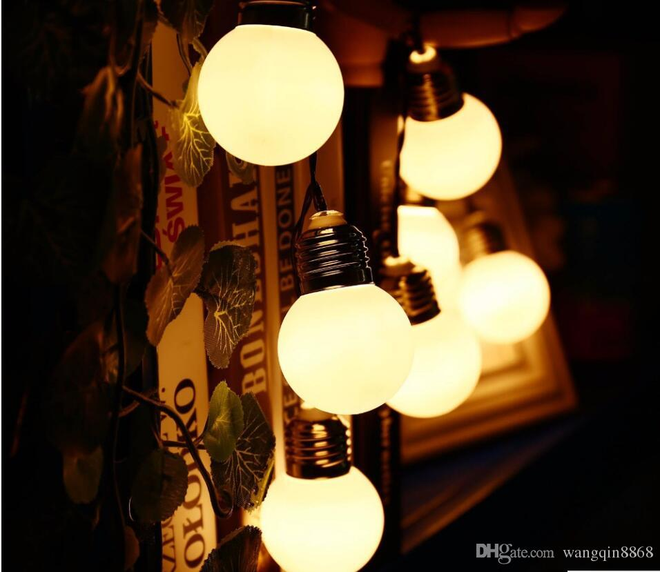 4m 20 G45 Bulbs Solar Powered Outdoor Waterproof String Light Decorative  Lighting String For Garden Patio Festival Lantern Lamp String Fairy Lights  Large ...