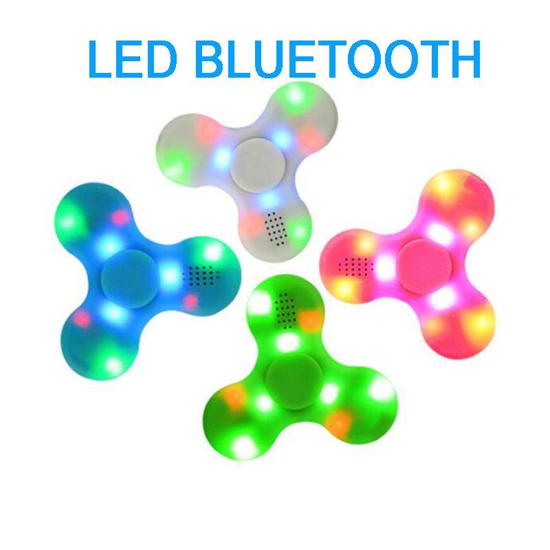 wireless bluetooth speaker hand finger spinner metal shafts led