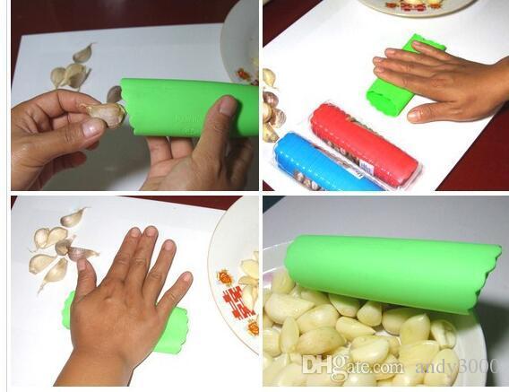 Kitchen Craft Garlic Peeler Silicone Easy Roll Garlic Peeler Tube Utility Kitchen Gadget Peel Stripper Tool Wholesale