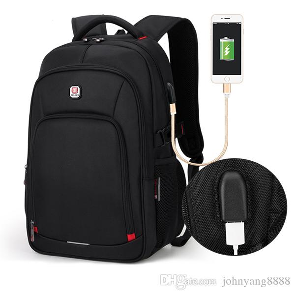 41148e2ce8e7 BALANG Laptop Backpack 15.6 Inch Computer Backpacks Male Waterproof Man  Businesss Dayback Women Travel Bags Charging USB Port