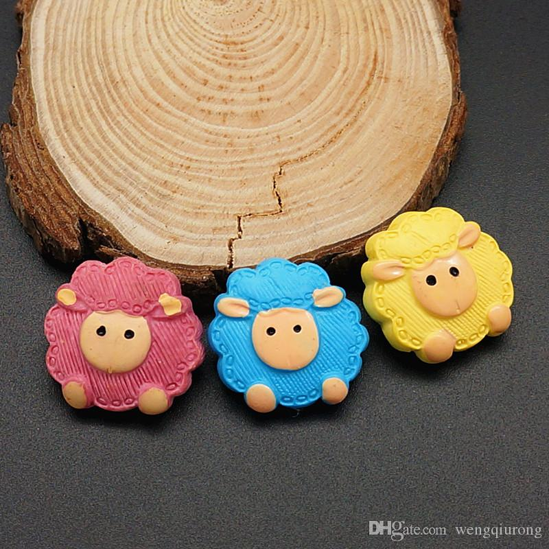 Hot sale NS0040 Beauty Charm mixed lovely sheep 18MM snap buttons for DIY ginger snap Jewelry Accessories charm wholesale