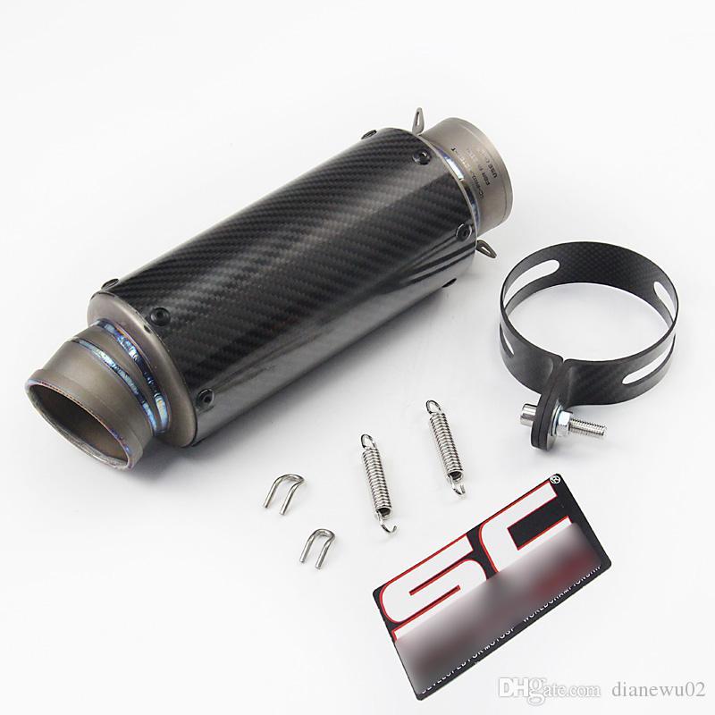 Length 285 mm Universal Motorcycle Exhaust Vent Pipe Slip On Dirt Street Bike Motorcycle Diameter 60.5 mm