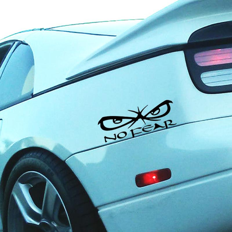 2017 hot sale personality eyes no fear car decal vinyl stickers creative stickers decorative car styling decal jdm car sticker vinyl sticker car styling