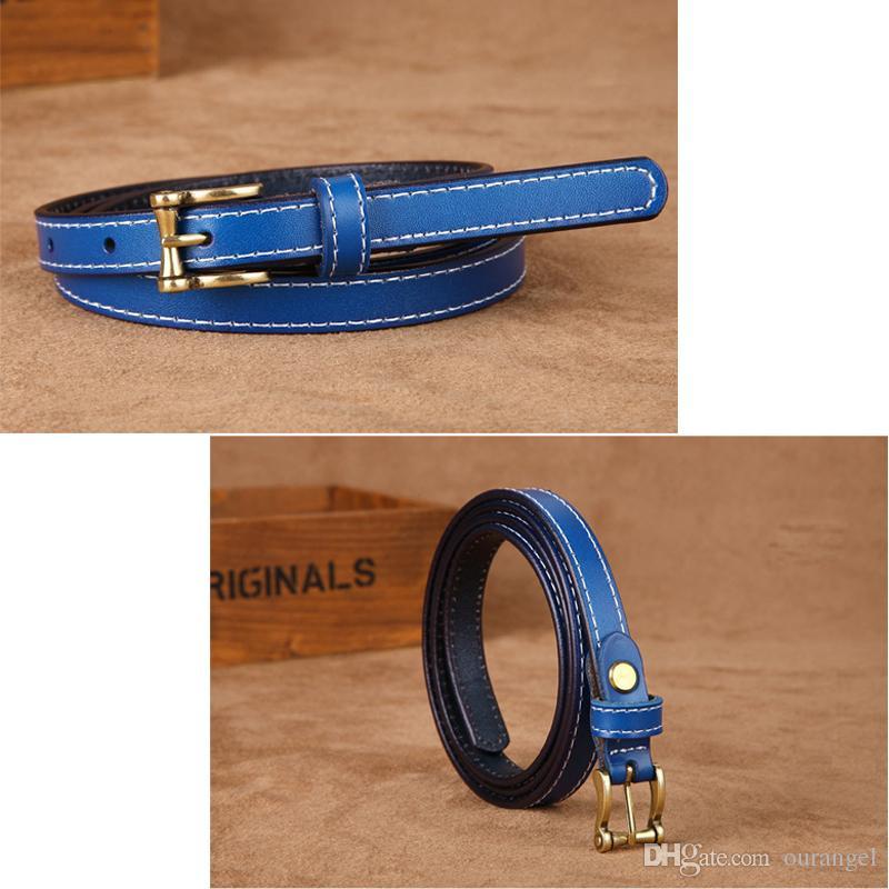 disponibilità nel Regno Unito 8ef3f aae89 Cinture moda donna - Cintura donna vintage in pelle vintage da donna skinny  retrò - Accessori moda donna