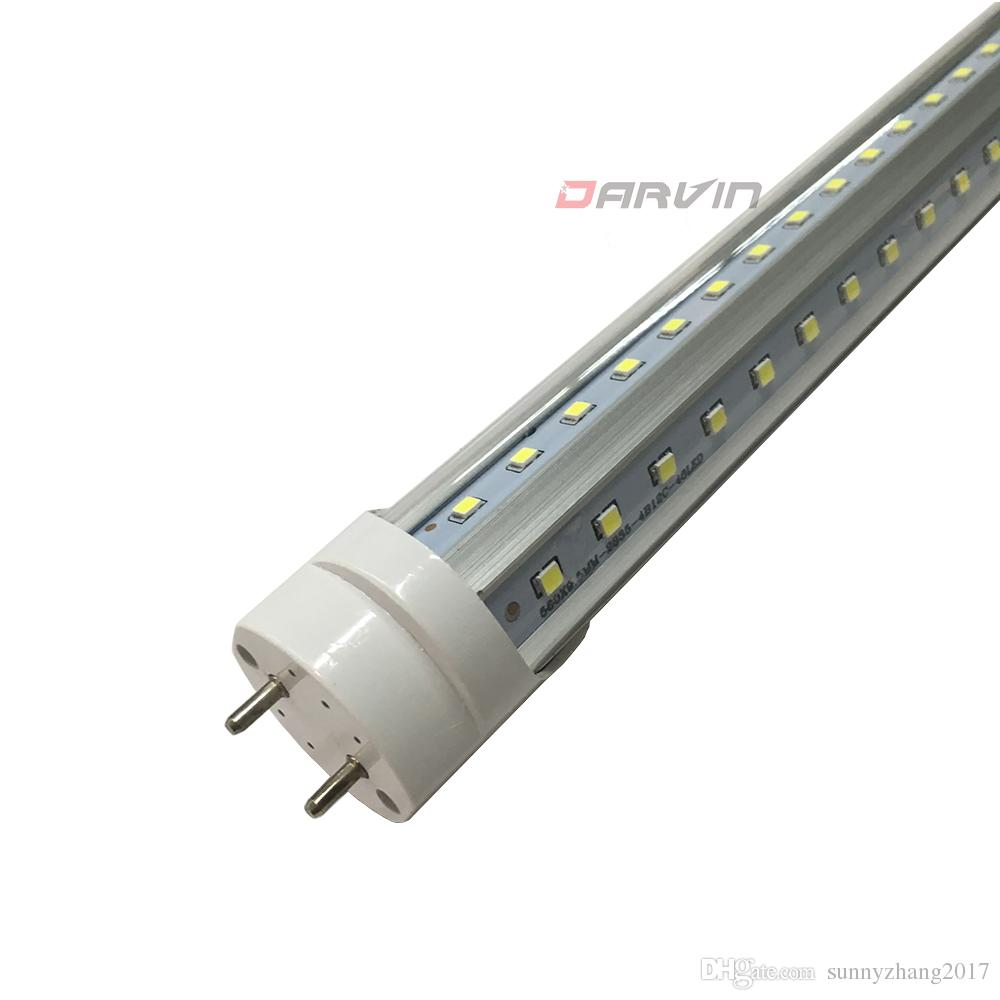 T8 V shade Led Tube 5ft 1500mm 36W Flourescent Light Lamp AC85-265V 110V 220V Led Lamp 270 Degree Top Bright,