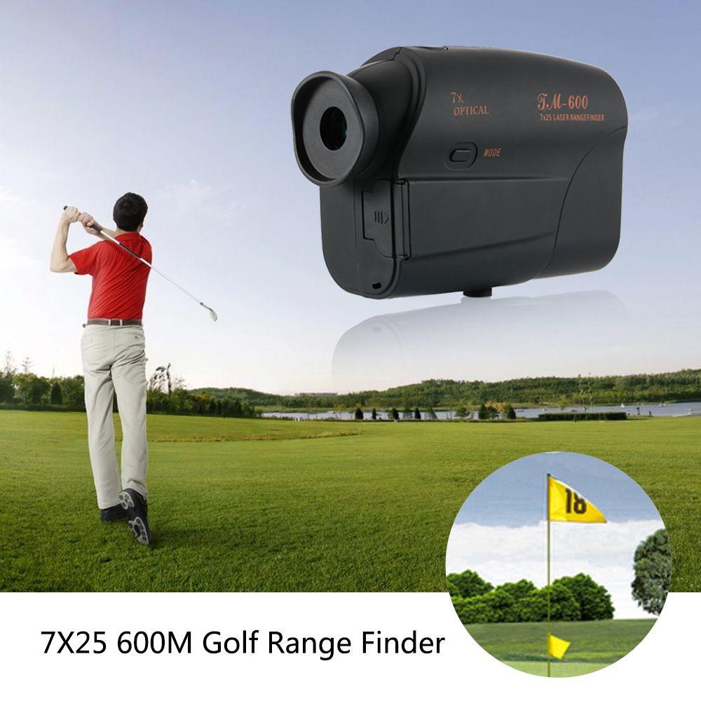 7x25 600m Laserowy RangeFinder Range Laser Finder Golf RangeFinder Polowanie Teleskop Monocular Laser Dystansowy Tester prędkości