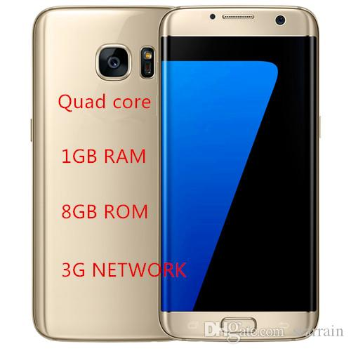 Goophone S7 Edge Version s7 Clone Phone 5.5 Inch Mobile Phone s7 Metal Frame 1GB RAM 8GB ROM Quad Core DHL Free
