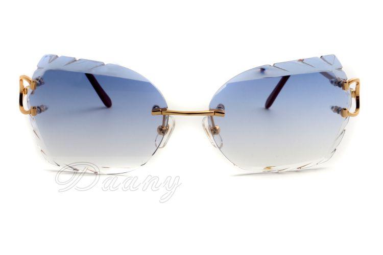 2019 novos óculos de metal sem moldura, os nomes podem ser gravados na lente, 8300817-A óculos de sol personalizados, tamanho: 58-18-135mm