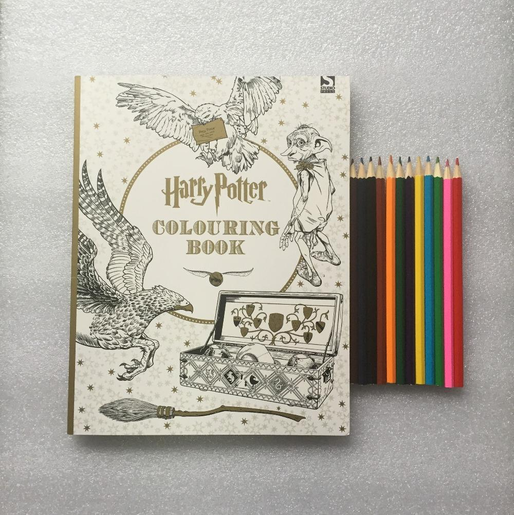 Pencils Harry Potter Coloring Book Books For Children Adult Secret Garden Series Kill Time Painting Drawing Images Colouring Pages