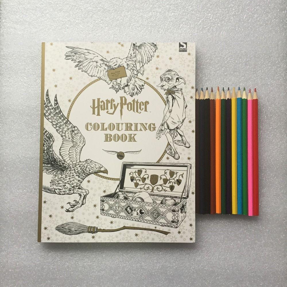 pencils harry potter coloring book books for children adult secret garden series kill time painting drawing books coloring book images colouring pages - Harry Potter Coloring Books