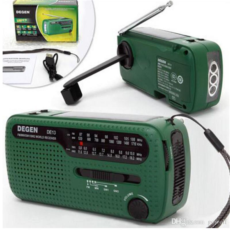 LED Flashlights 3 in 1 Emergency Charger Generator Wind Solar Hand Crank Dynamo Powered FM/MW/SW Radio World Receiver