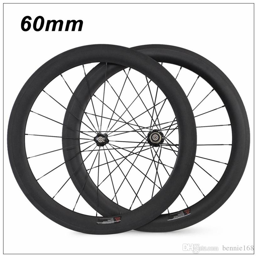 2018 NEW 38mm 50mm 60mm 88mm Carbon Clincher/Tubular Road Bike Bicycle Wheels Super Light Carbon Wheels Racing Wheelset Novatec 271 Hubs