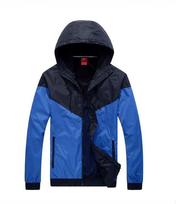 Fashion New Men Women Jacket Spring Autumn Fall Casual Sports Wear Clothing Windbreaker Hooded Zipper Up Coats