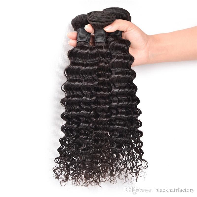 البرازيلي موجة عميقة مجعد عذراء الشعر البشري ينسج حزم غير المجهزة بيرو الماليزية الهندية الكمبودية البرازيلية مجعد الشعر اللحمة