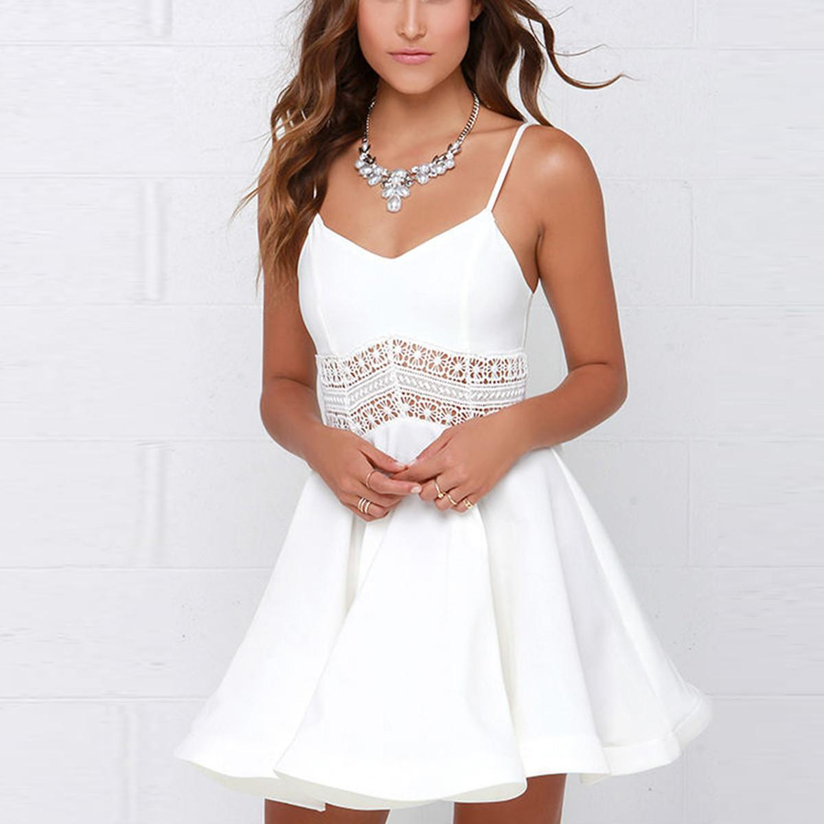 White summer dresses for women photo foto