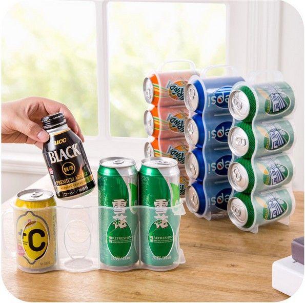 Yeni Mutfak Aksesuarları Kok İçecek Bira Can Uzay tasarrufu Kutular Bitirme Çerçeve 4 Saklama Kutusu Buzdolabı Saklama Kutusu Gadget