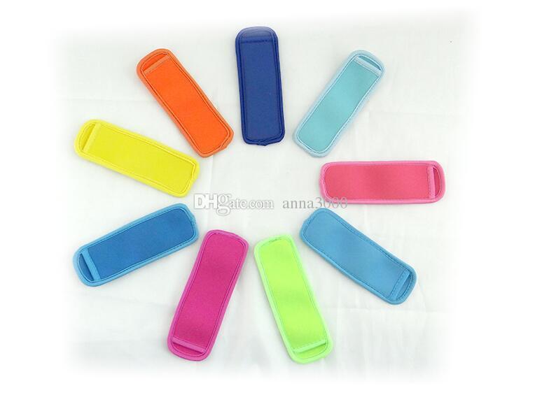 Vendita calda di alta qualità Popsicle Holders Pop Ice maniche Freezer Edge Covering 18cmX6cm Neoprene impermeabile bambini Estate Utensili da cucina