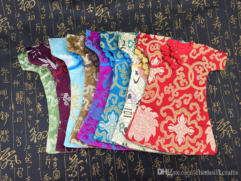 High Quality Handmade Chinese cheongsam Wine Bottle Cover Bag Party Table Decoration Silk Brocade Bottle Clothes Packaging Pouch