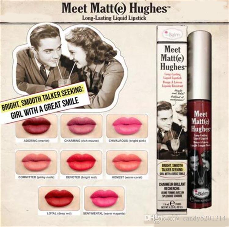 메이크업 매트 립글로스 모임 매트 E 휴즈 롱 지속적인 액체 립스틱 섹시한 빨간색 브랜드 비 스틱 컵 입술 스틱 A08
