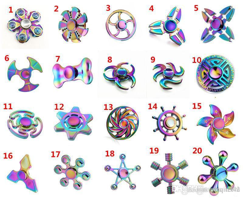 35 Types Fid Spinner Metal Rainbow Spinners EDC Tri Spinner Hand