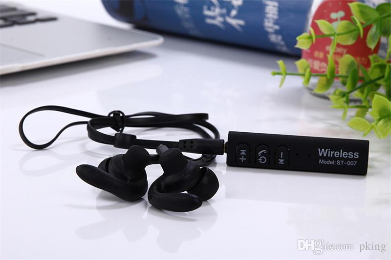 Bluetooth Headset ST-007 Wireless Earphone Head Phone Bluetooth Earpieces Sport Running Stereo Music Earuds with Mic Auriculares Free DHL