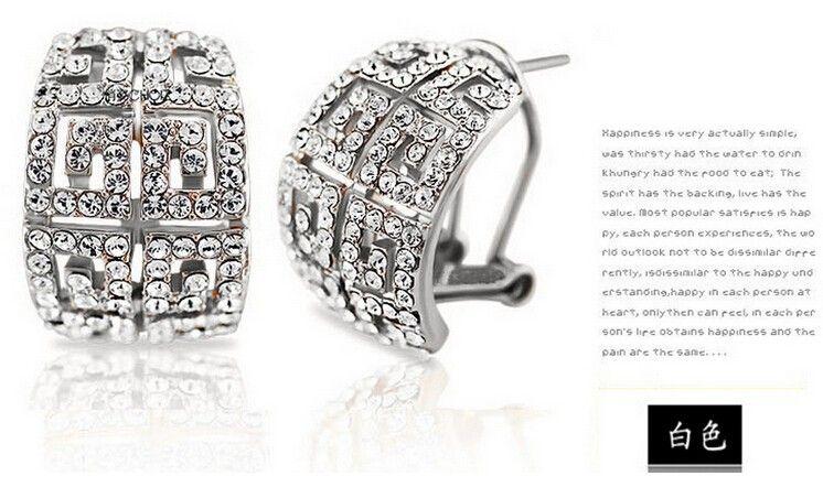 18 Karat vergoldet österreichischen Kristall Halskette Ohrringe Schmuck-Set mit SWAOVSKI Elements Hochzeit Schmuck-Sets Modeschmuck