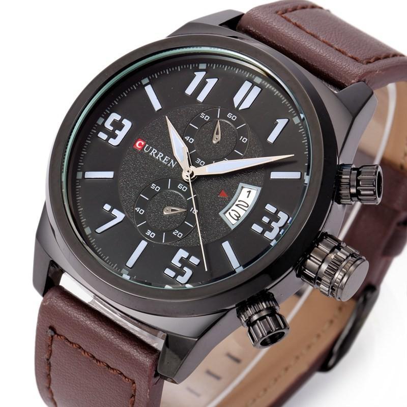 7b9b06f7b45a Compre CURREN 8200 Hombres Relojes De Primeras Marcas De Lujo Mens Militar Relojes  De Pulsera De Cuero Hombre Reloj Deportivo Impermeable Relogio Masculino ...