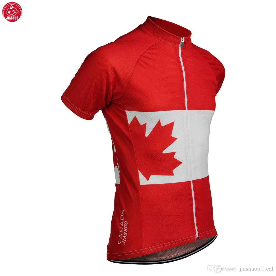 2 Chooses Customized NEW 2017 CANADA Maillot Classical JIASHUO mtb road RACE Team Cycling Jersey / Shirts & Tops Breathable Ropa CICLISMO