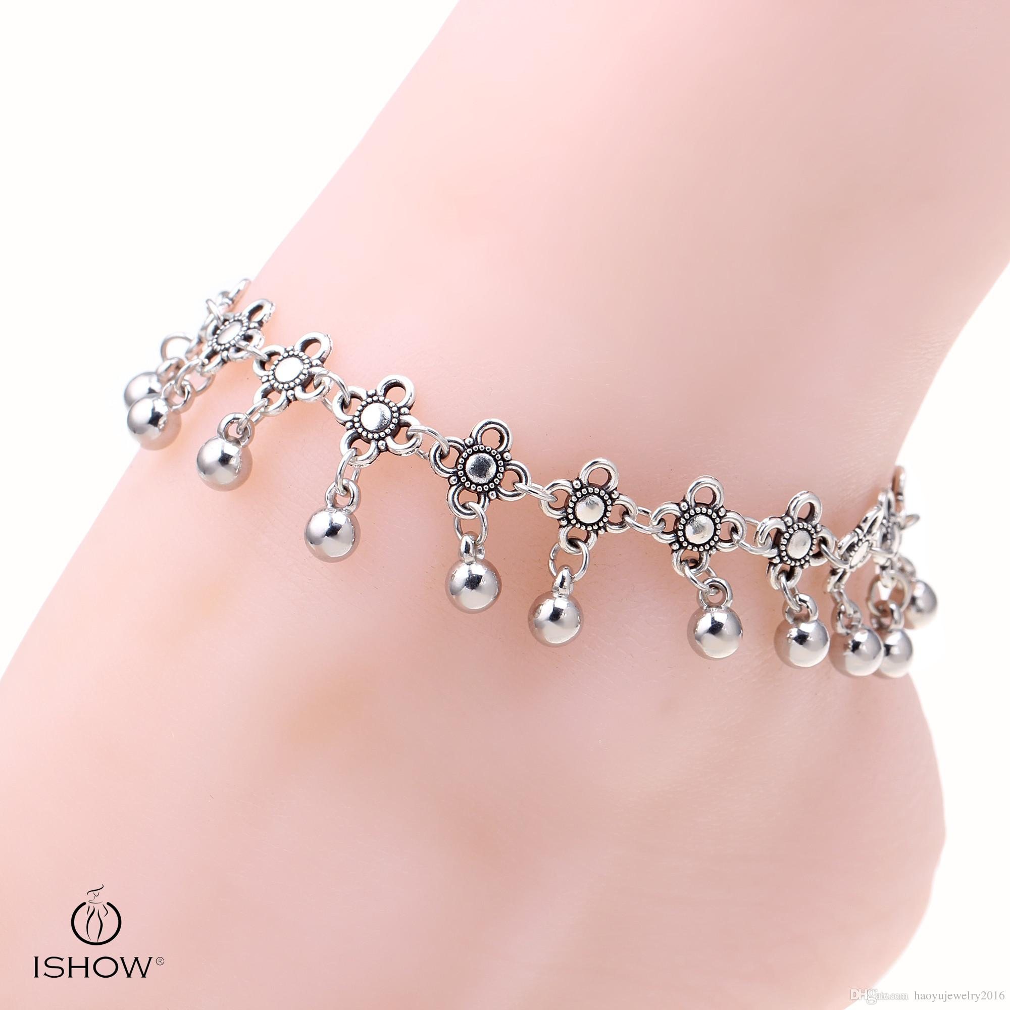 popular clasp plated bracelets toggle original ringing chain and product silver anklet with charm on coin bell bracelet ankle