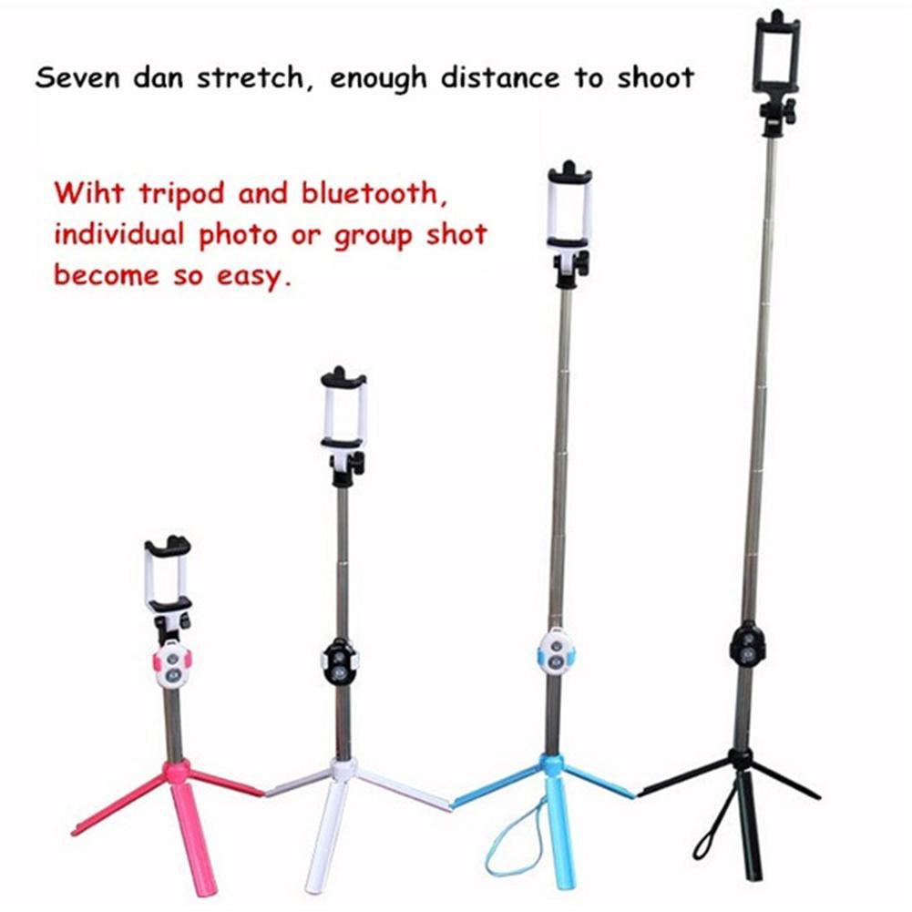 Универсальный портативный складной штатив ноги монопод Bluetooth дистанционный штатив Selfie Stick 3 в 1 ручной выдвижной для Sumsung iPhone