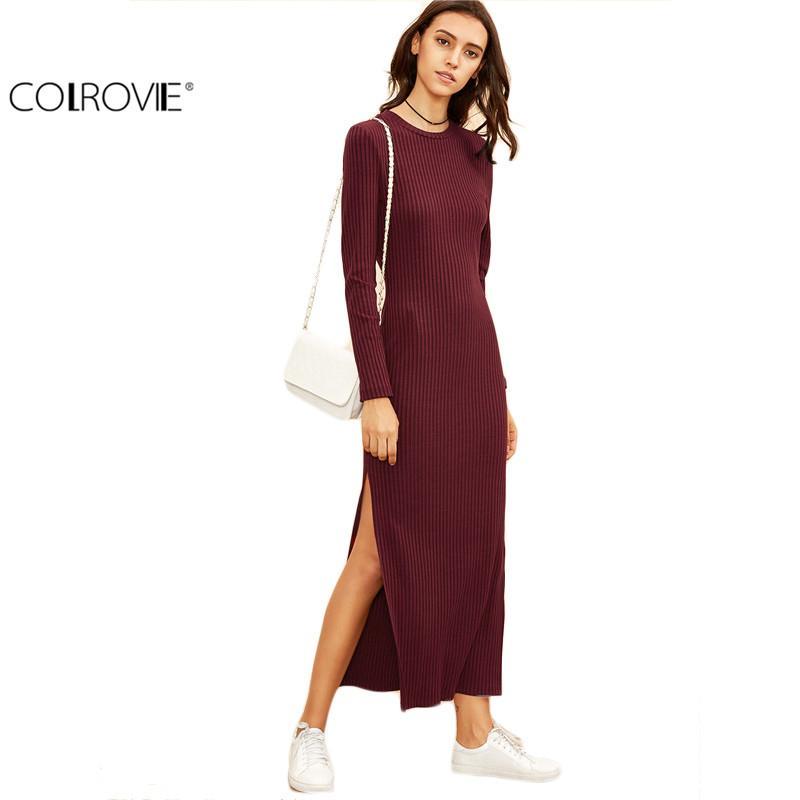 Colrovie Winter Dresses For Women European Style Women Fall Dresses