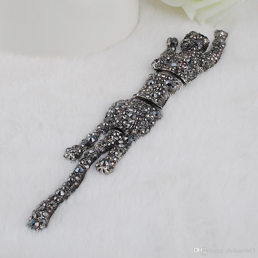 Le fibule di cristallo del leopardo del grado i regali adorabili della donna dei gioielli delle donne liberano il trasporto