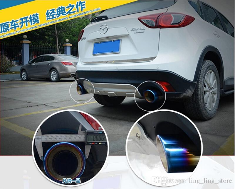 2018 Chrome 304 Stainless Steel Exhaust Tip Tail Pipe Muffler For Mazda Cx 5 Cx5 2012 2015 End