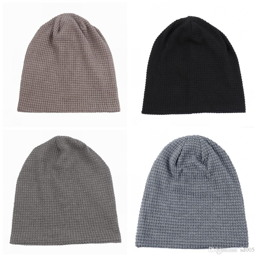 52440537 Comfortable Earflaps Wool Hats No Eaves Solid Color Men And Women ...