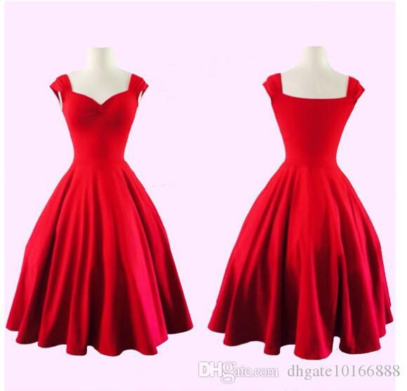 2017 Plus Size Audrey' Hepburn Style 1950s 60s Vintage Inspired Rockabilly Swing 50s 2016 Evening Party Dresses for Women