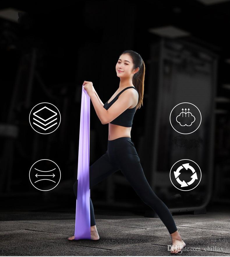 Yeni Yoga Direnç Bantları 1.5 m Doğal Gerginlik Sağlık Elastik Egzersiz Spor Vücut Lateks Germe Kemer Çekme Kayışı