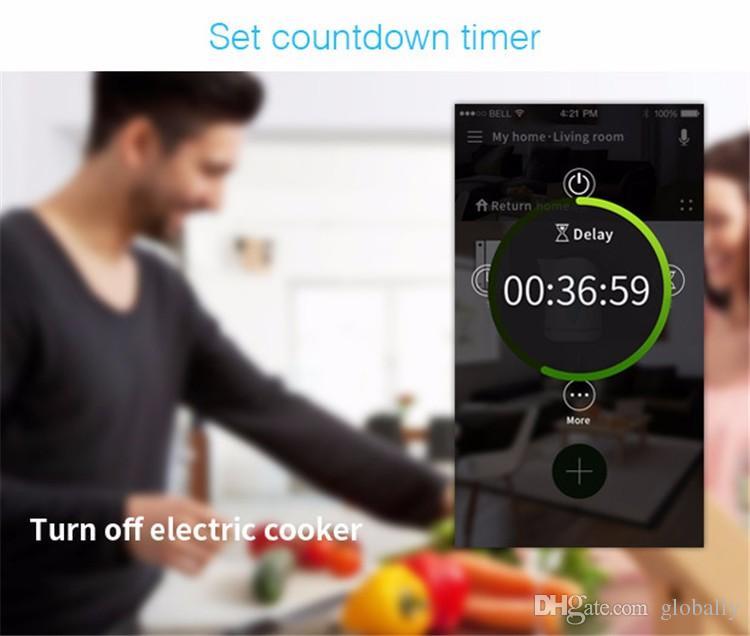 Smart home Broadlink 16A + temporizador Toma de corriente de conexión wifi de EE. UU. De EE. UU., APP Controles inalámbricos para ios pad Android, domótica