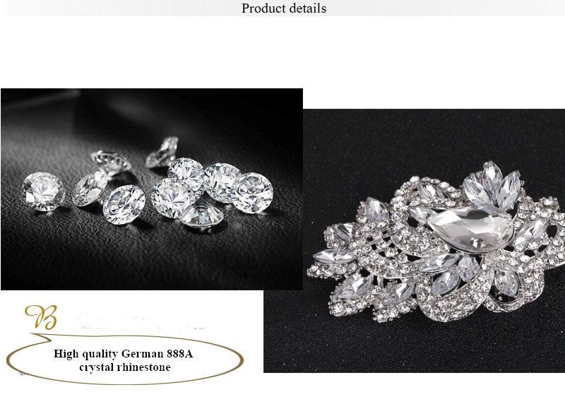 30% Off New Wedding Brooch Bouquet Pin Wholesale large vintage silver flower swarovski crystal brooches Fashion Hot Big Broach free DHL