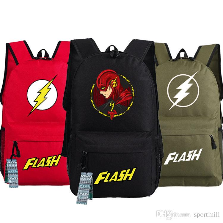 0670805154 2019 The Flash Backpack Red Man School Bag Film Daypack Super Hero  Schoolbag Outdoor Rucksack Sport Day Pack From Sportmill