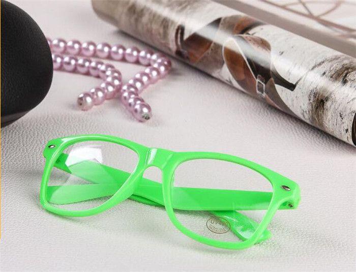 1000 stücke 19 candy farben Unisex sonnenbrille Nieten Sonnenbrille Retro Farbe Unisex Punk Geek Stil Klare Linse Gläser R053