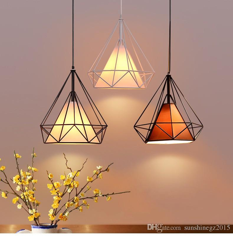 cage style lamp bird product pendant wire iron shade different