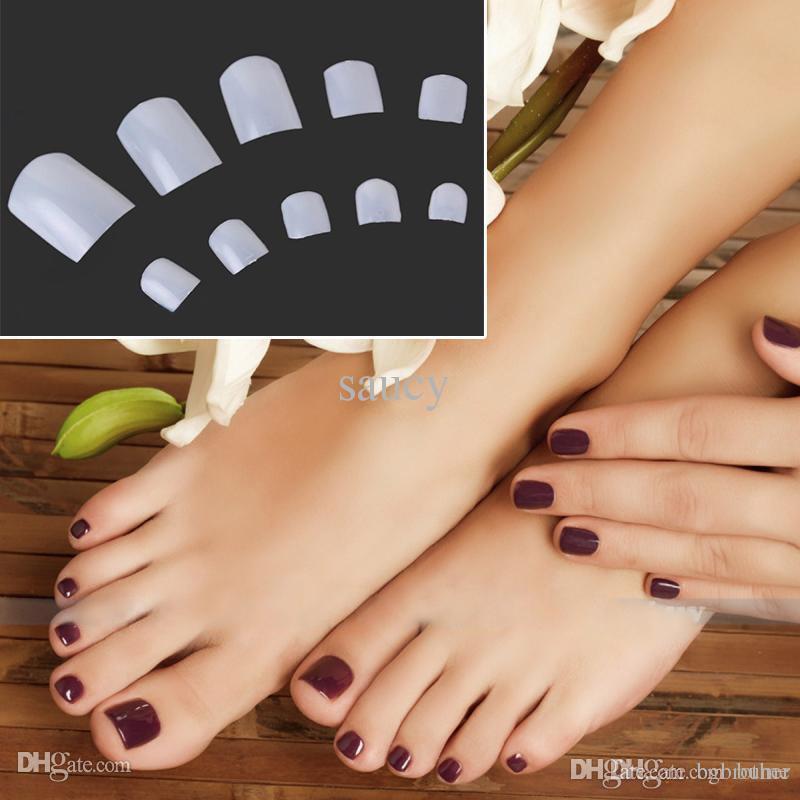 Wholesale Natural Acrylic French False Toe Nail Diy Art Tips Decor ...