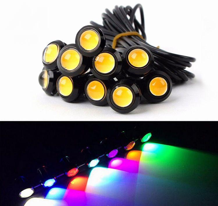 Carro de qualidade LED luzes 18mm 23mm águia olhos para carro Drl Daytime Running Light Cauda de estacionamento