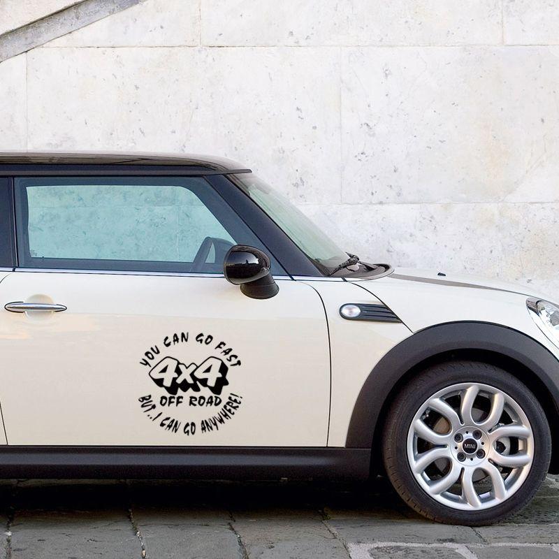 Sıcak Satış Araba Şekillendirme İçin Moda Can Go Fast Off Road Ama Can Git Anywhere Araç plakası Vinil Çıkartması Jdm