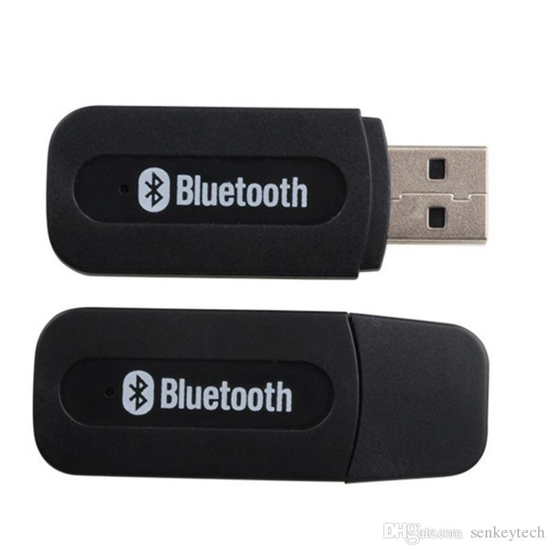 양질 USB 자동차 블루투스 어댑터 오디오 음악 수신기 동글 3.5mm 포트 자동 AUX 스트리밍 A2DP 키트 스피커 폰 헤드폰