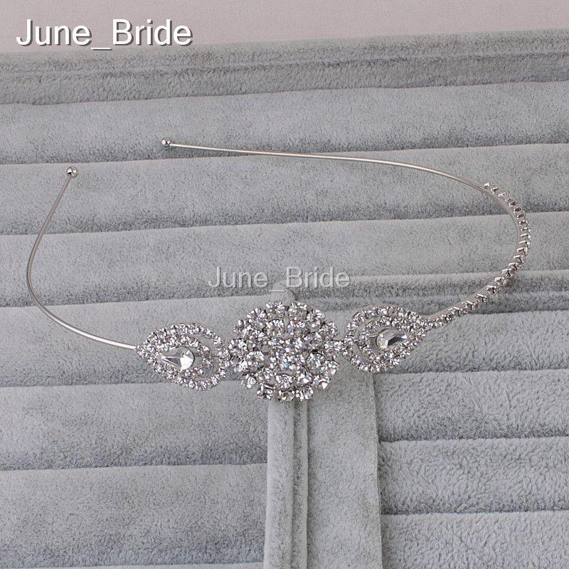 Elegant Crystal Rhinestone Bridal Hairband Wedding Birthday Party Headpieces Formal or Causual Headpieces Headband