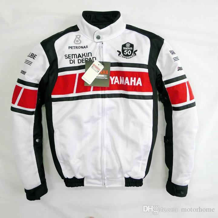 2017 Wholesale New Style Yamaha Arrival Motorcycle Jacket Racing Autorcycle Motor Jacke Summer Breathable Red White From Motorhome