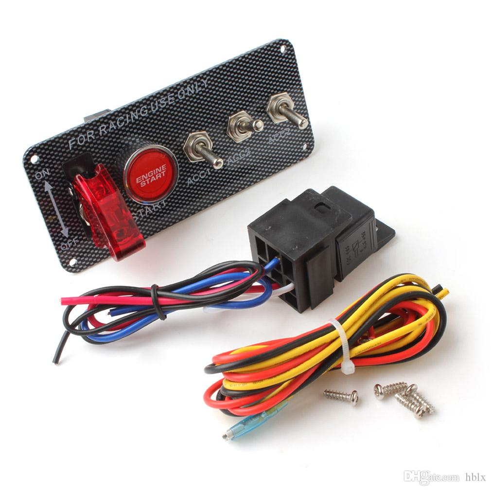 Rennwagen 12V Zündschalter Panel Motorstart-Druckknopf LED-Kippschalter AUP_212