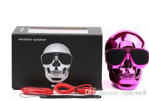 Portable Skull wireless speakers Skull Head Ghost bluetooth Stereo Subwoofer Mega Bass 3D Stereo Hand-free Audio Player Mini Speaker
