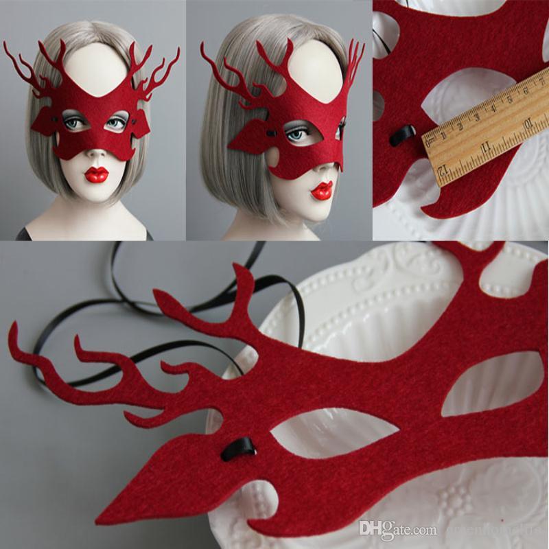 Máscara de Ciervo de mujer Nueva Cara Encantadora Beuta Beta Máscara de disfraces Misteriosa Niñas Fiesta de Cosplay Máscara de Animal de Halloween